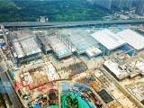 济南西部会展中心5座展馆近日将实现全部主体封顶