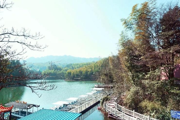 谈养生:地处贵州赤水九曲湖风景区内,森林覆盖率98%,负氧离子含量360