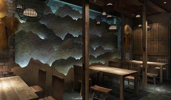 荊州網紅燒烤店裝修設計案例效果圖