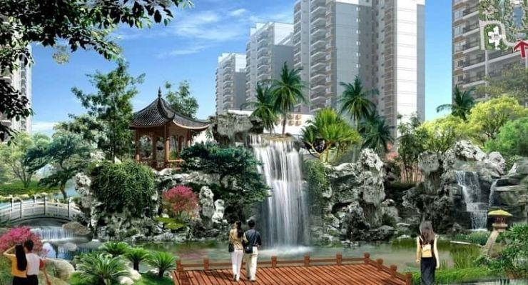 """山水雅居,秉承纯净,现代,优雅欧式风格建筑外立面,同时,结合""""生态"""