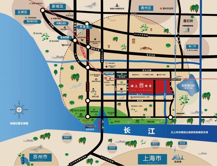 金鸡湖 手绘地图