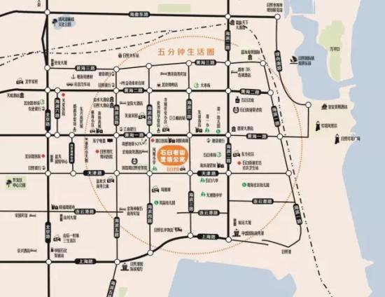 日照市北商住区规划图