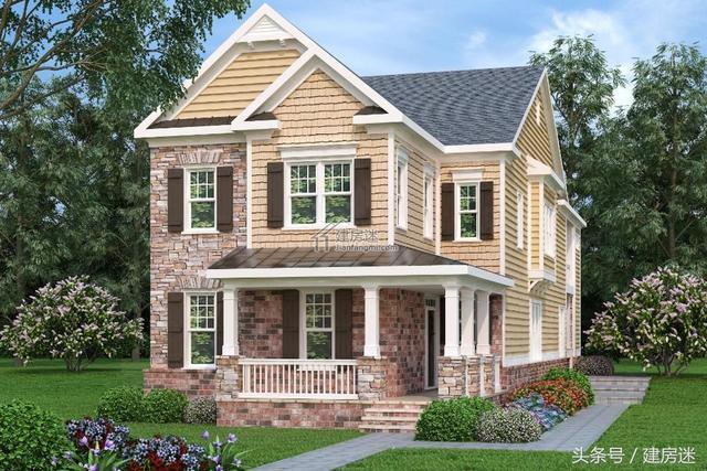 自建房临街狭长地基8米x27米两层房屋设计图