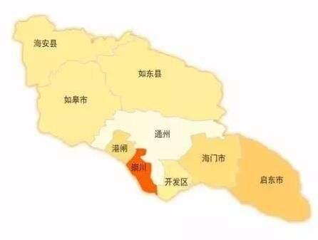 南通行政规划图 南通分为如皋,海门,启东,海安等几个区县,这几个区县