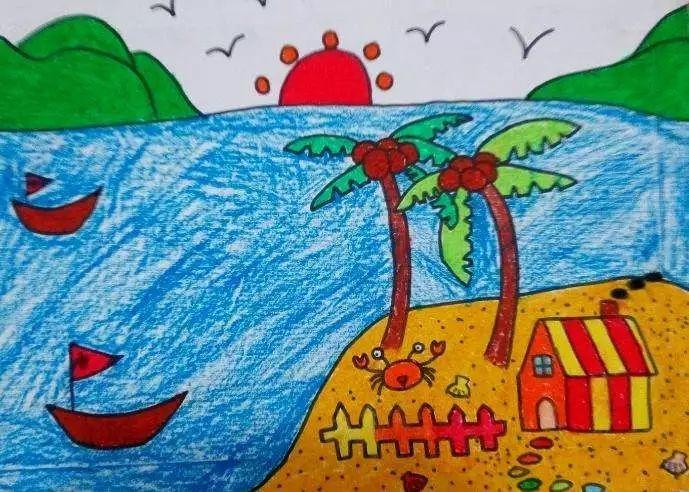 儿童海景画图片大全