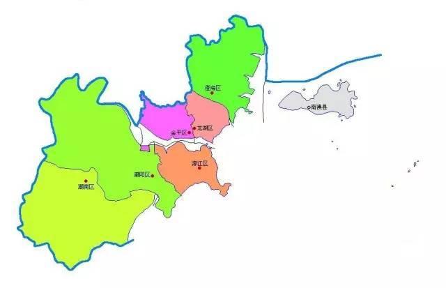 汕头市行政规划图
