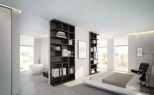 注重空间布局与功能性的搭配,黑白灰的色彩搭配给整个家倍显清爽,让