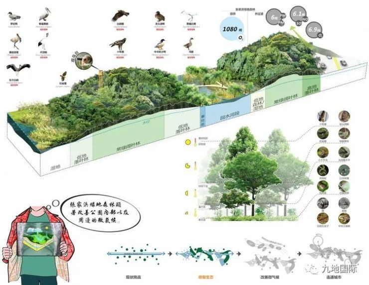 河湖城市|Sasaki绘制上海张家浜楔形景观绿地如何公布空心立方体图片