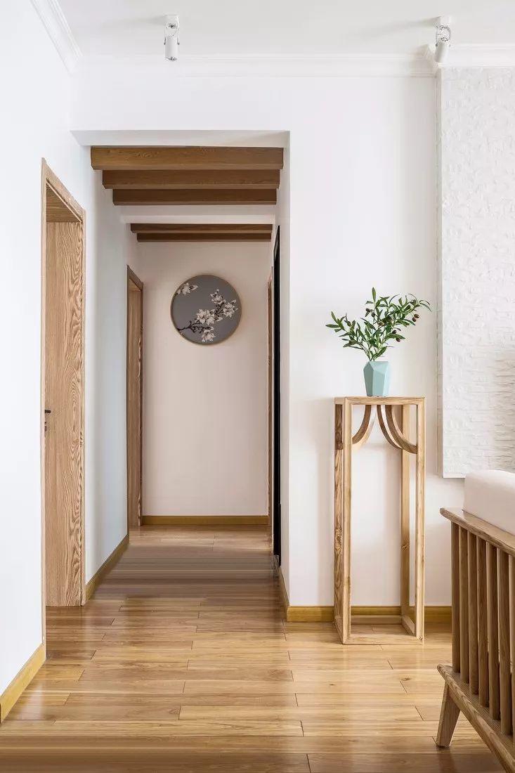 超漂亮的135㎡新中式装修,仿园林设计,玄关,卧室皆是风景!