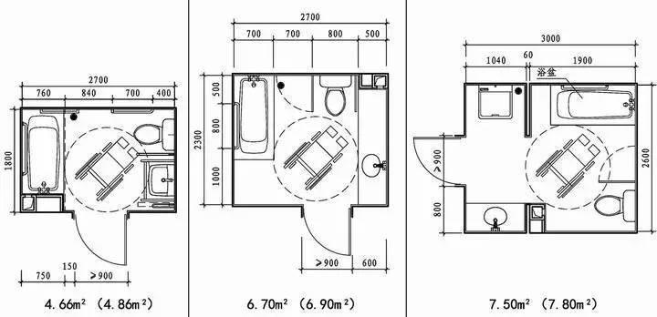 厕所设计图纸平面图