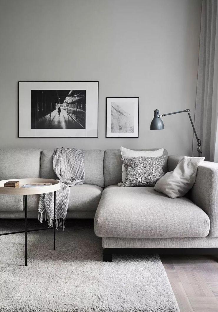 可爱的 53㎡ 的公寓 拥有时尚自然的风格与温暖的灰色格调 舒适的家才