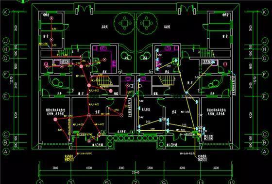装修电路平面图图