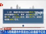 稳定增长 1-5月南通市外贸进出口总值超千亿元