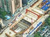 地铁3号线新进展 金湖广场站车站主体结构封顶