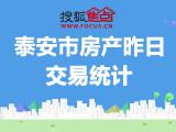 9月18日泰安房产交易数据,中南·佳期漫单日成交88套!