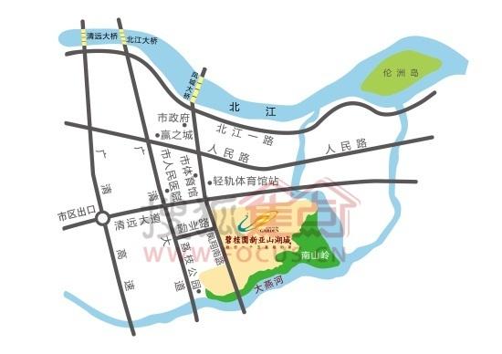 碧桂园新亚山湖城交通图