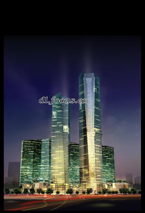 大连中心•裕景外观图