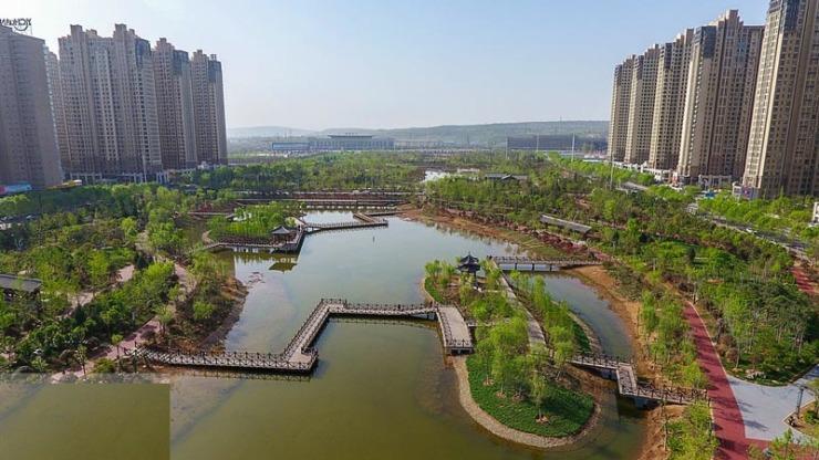 洛阳投建小游园150个:等了10年的兴洛湖景观带太美了