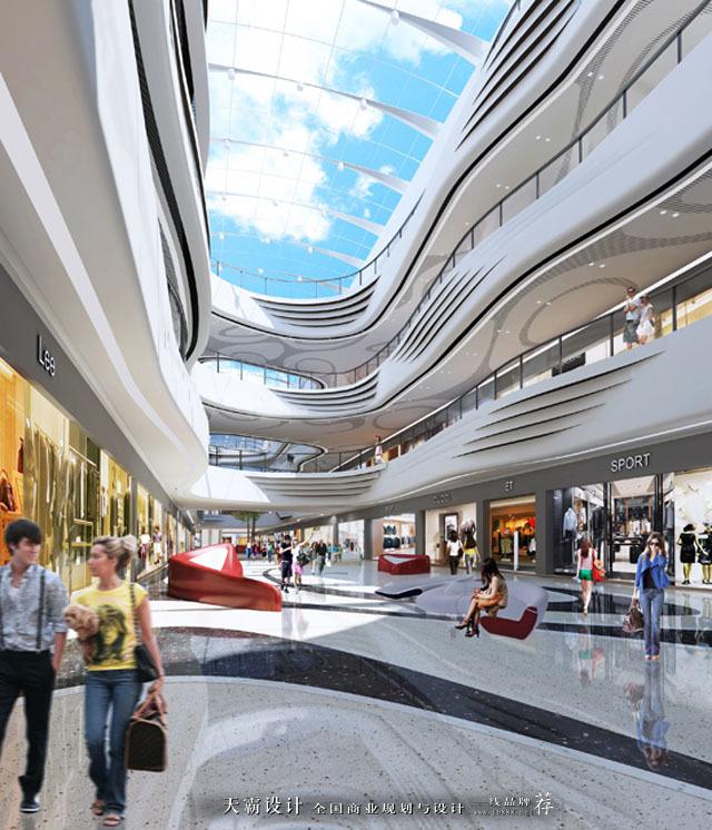杭州拱墅万达广场:以水元素为设计主题打造灵动飘逸的城市综合体