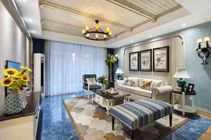 鸠兹家苑一套小洋房的地中海风格设计