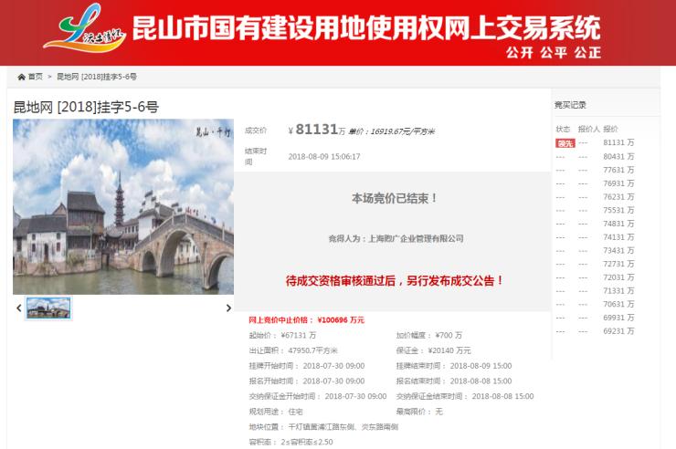 快讯|海伦堡8.11亿竞得千灯6号地 楼面价6768元/㎡