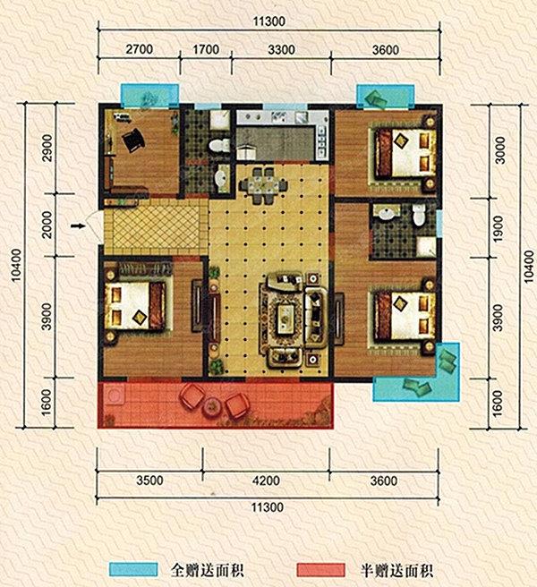 咸阳城东京基一品4号楼王3室4室 给您不凡的生活体验