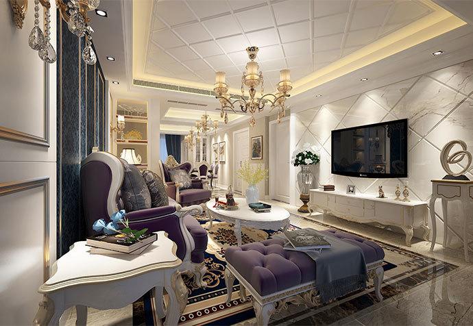 龙之梦140㎡公寓欧式装修