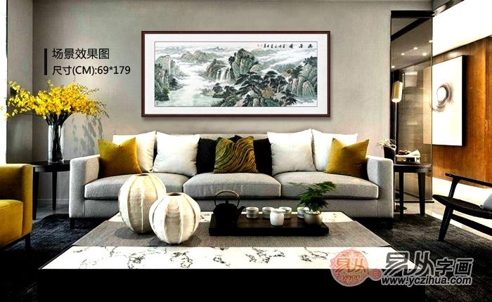 新式客厅挂画什么好 精品山水秀雅美丽更多变