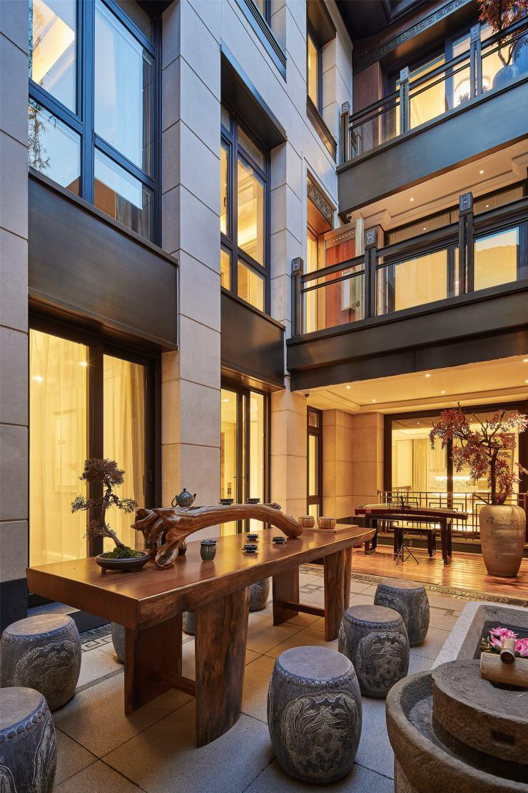 平顶山中式古典主义别墅装修设计案例赏析
