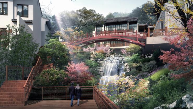 山水新作芙蓉园 致敬苏州古典园林