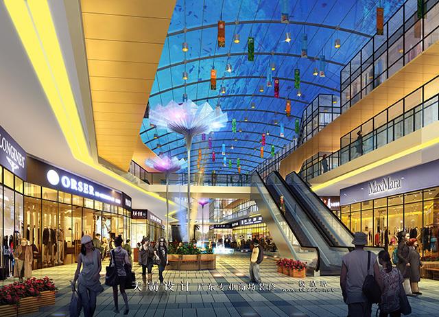 大型长春商贸城设计就交给天霸设计负责