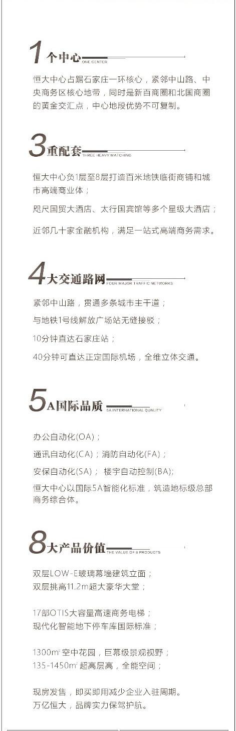 未来的商务中心 恒大中心定义石家庄高端写字楼新标准