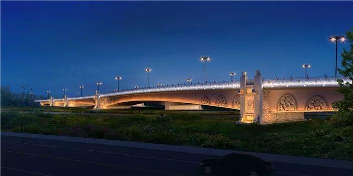 车站南路跨老运河桥建设工程加速施工 明年9月通车