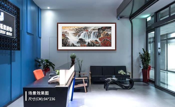 办公室挂什么画吉利 宋唐山水字画艺术淡泊更明净