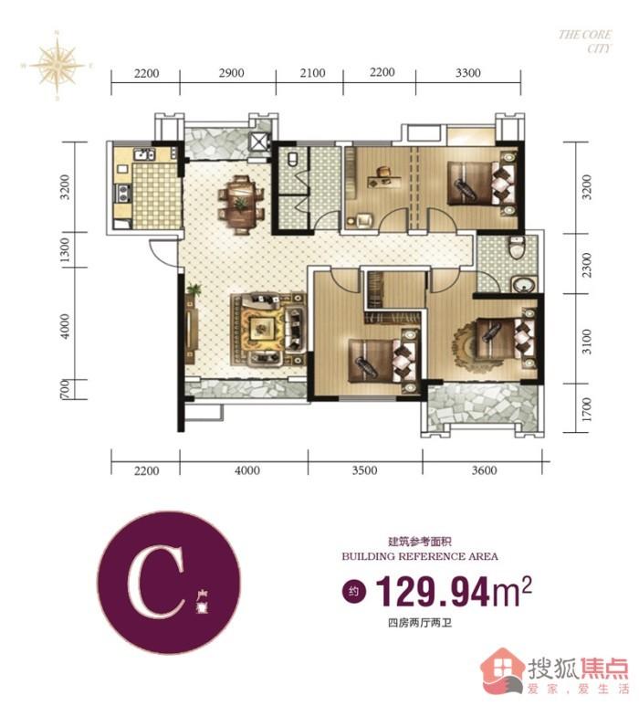 东峰国际公寓项目在售:通透大户现房 7500元/平起