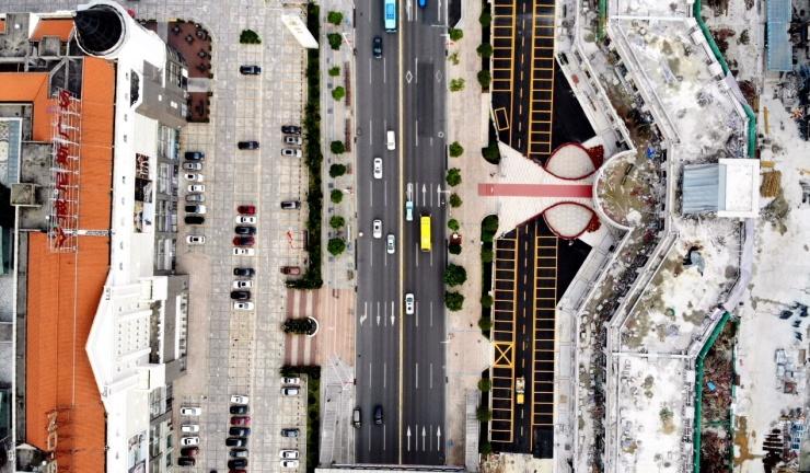 莞城商业的余晖——愉景东方威尼斯广场(航拍)