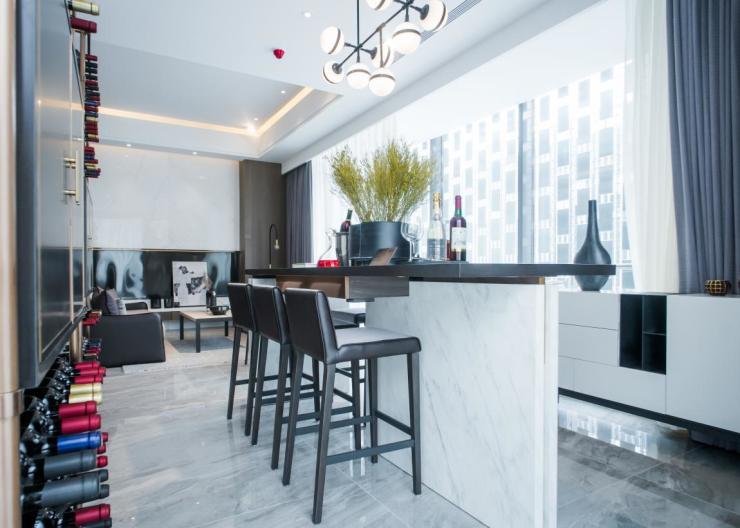 3.8米层高的璞悦公寓,让空间想象超乎凡享