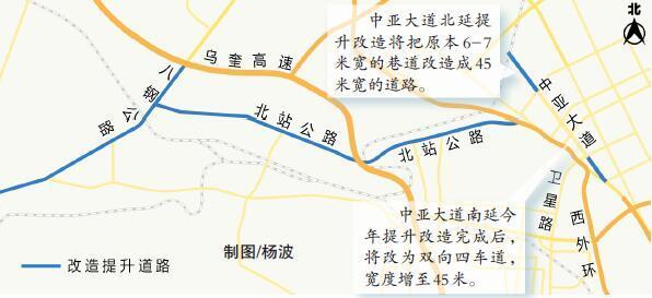 乌鲁木齐市中亚大道南延北延等4条路今年提升改造