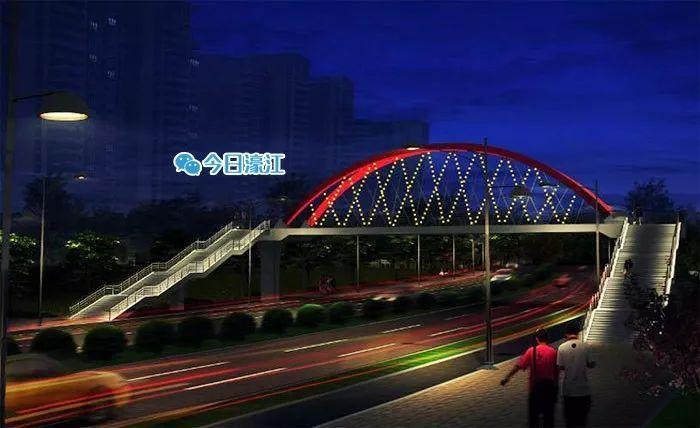 濠江区加快推进人行天桥和公交站亭项目