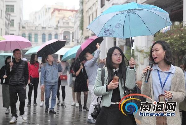 北部湾媒体海口行活动启动 采风团记者点赞椰城宜居宜游