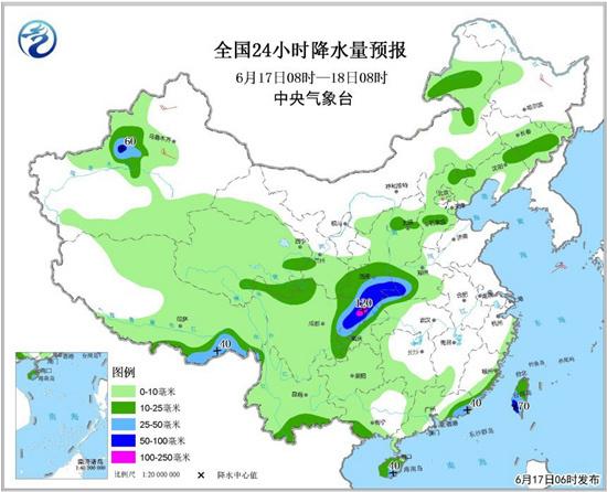 强降雨将影响川陕豫湘等地 华北东北仍多雷雨