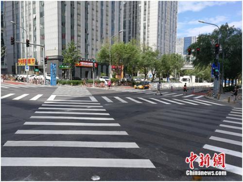 过马路可斜穿!北京首个全向十字路口亮相石景山