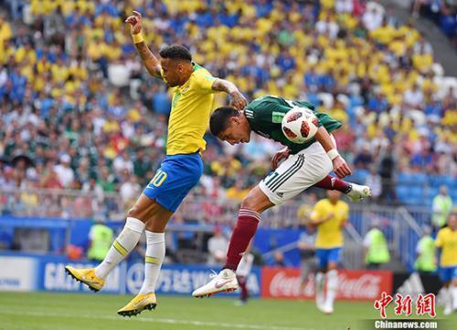 内马尔传射菲尔米诺替补破门 巴西2:0获胜晋级八强