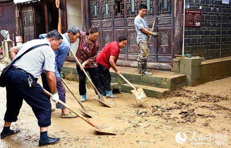 干群合力应对洪灾 广元昭化灾后生产自救有条不紊