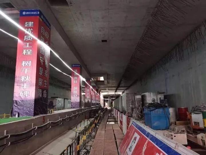地下隧道首次亮相!杭海城铁又有新进展