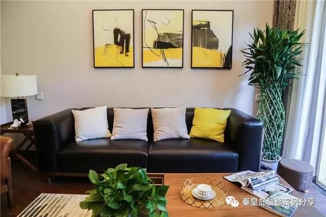 秦皇岛文庭雅苑三室两厅132平米混搭风格装修案例效果