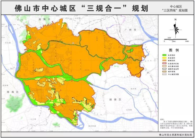 包括桂城、獅山羅村!佛山中心城區版圖曝光!
