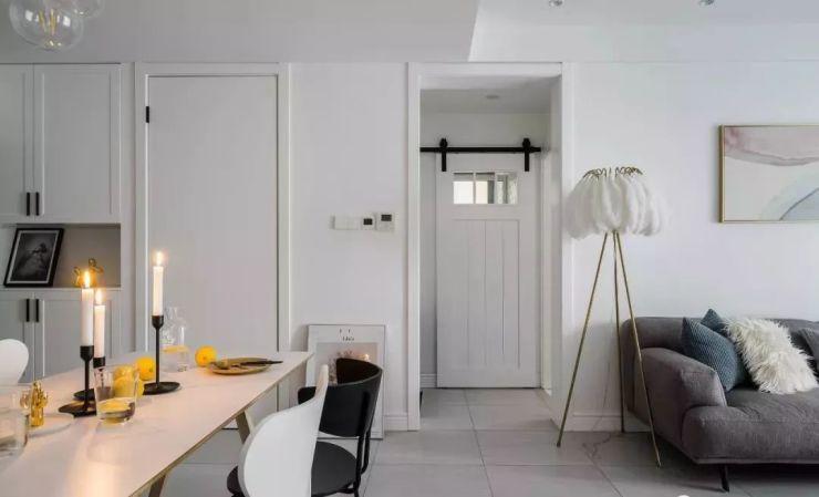 85㎡北欧风婚房装修设计效果图 气质代尔夫特蓝